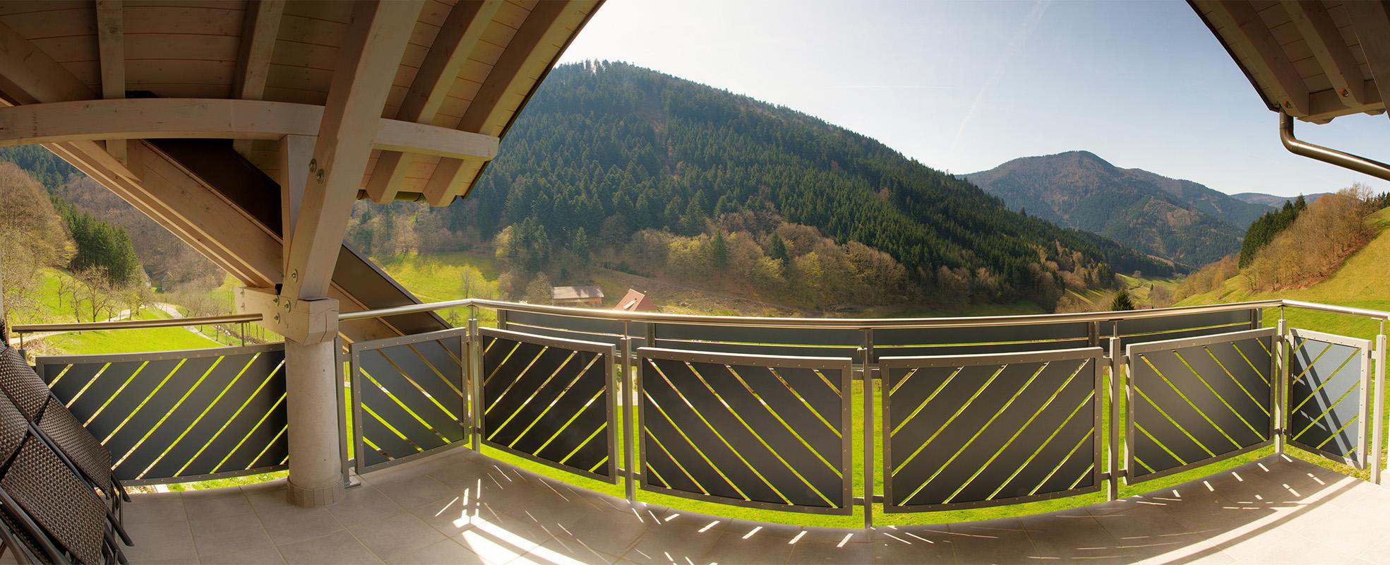 Panorama Balkon Neubau